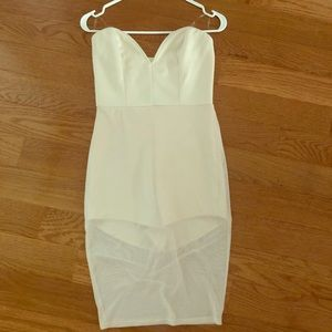 NWOT Nude tight dress with sheer bottom
